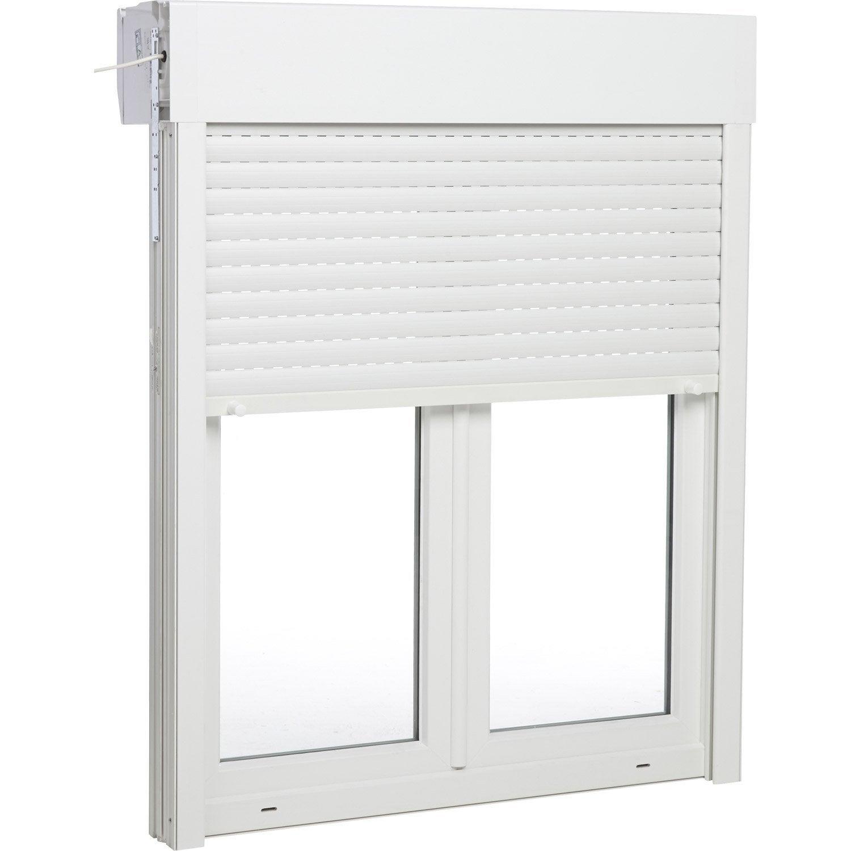 Fenêtre pvc avec volet roulant, H135 x l120 cm  Leroy