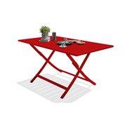 Table de jardin Marius rectangulaire rouge carmin 4/6 personnes