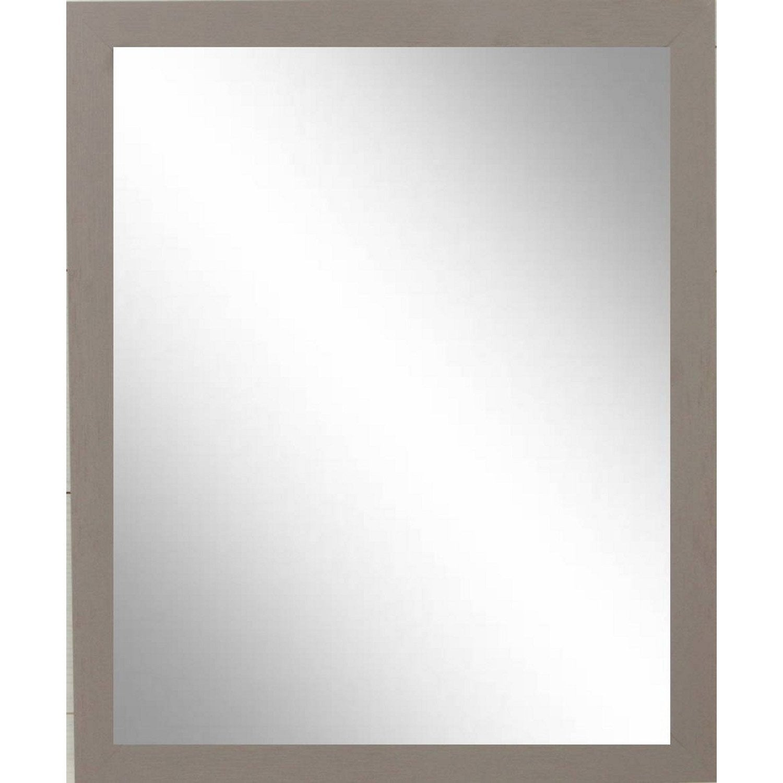 Miroir riviera 2 inspire brun taupe n 3 40x50 cm leroy - Miroir grossissant lumineux leroy merlin ...