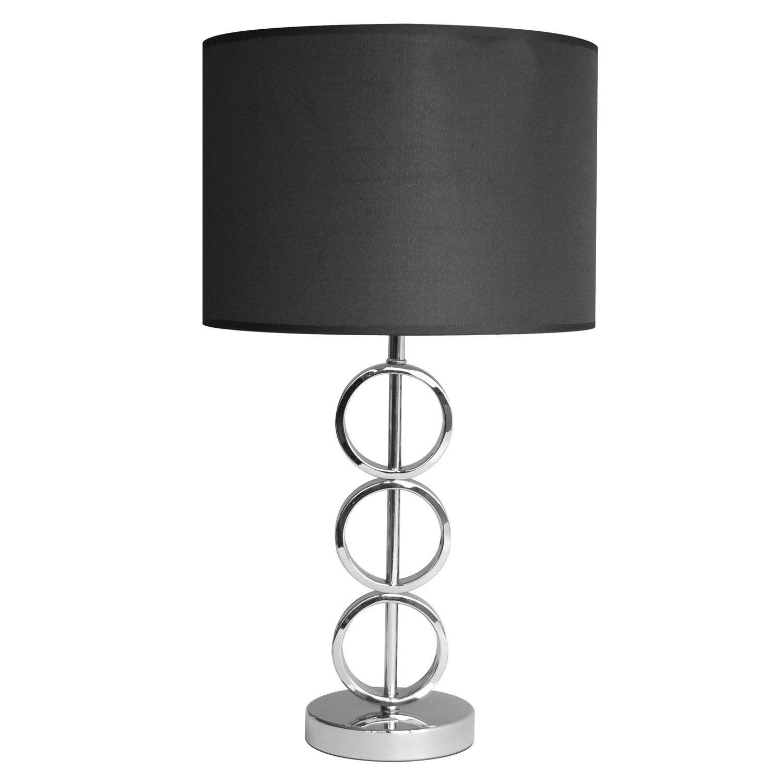 lampe helena seynave tissu noir 40 w leroy merlin. Black Bedroom Furniture Sets. Home Design Ideas