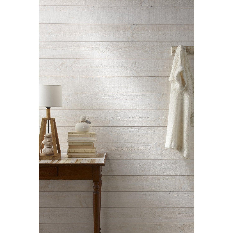 Peindre lambris bois en blanc id e inspirante pour la conception de la maison for Peindre lambris