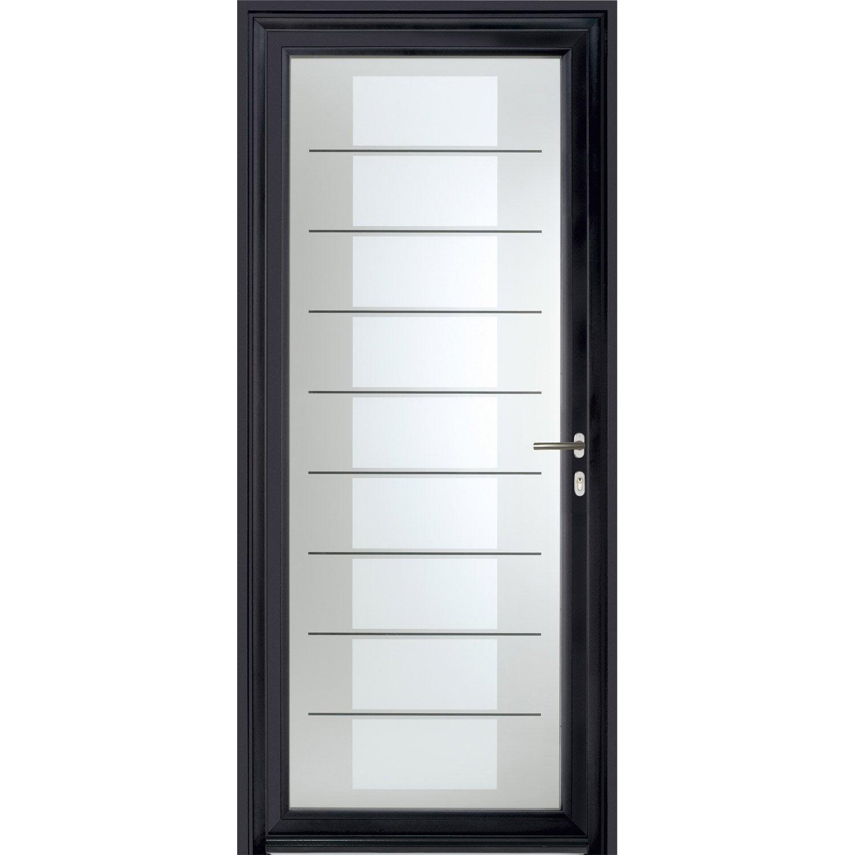 Porte d 39 entr e sur mesure en aluminium verona excellence leroy merlin - Leroy merlin porte coulissante sur mesure ...