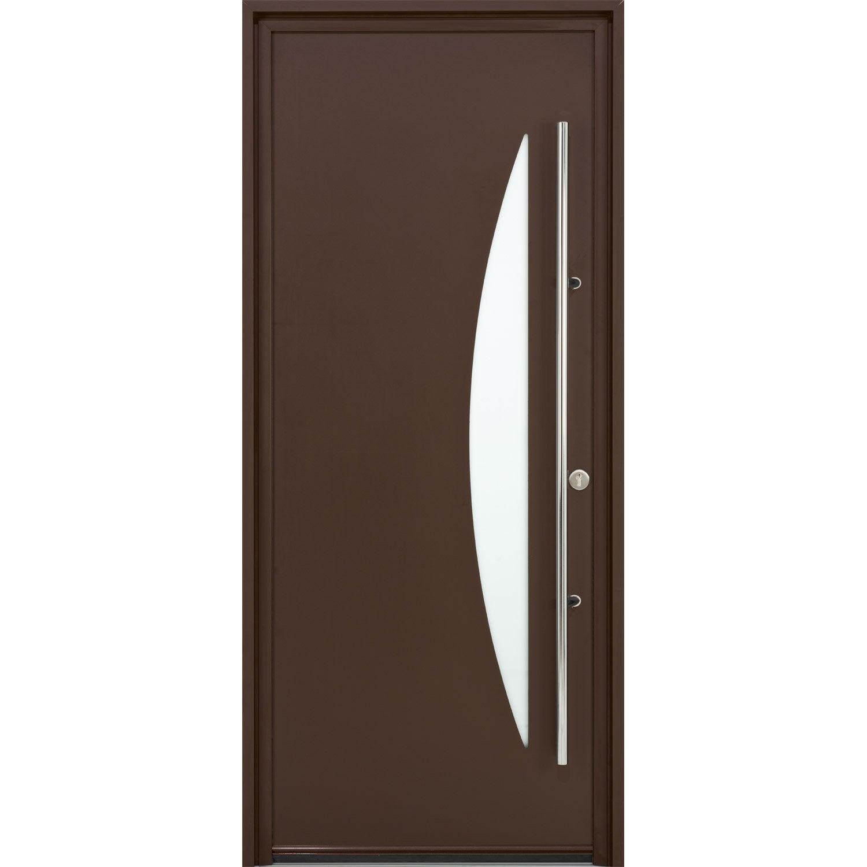 Porte d 39 entr e sur mesure en aluminium imperia excellence leroy merlin - Leroy merlin porte entree alu ...
