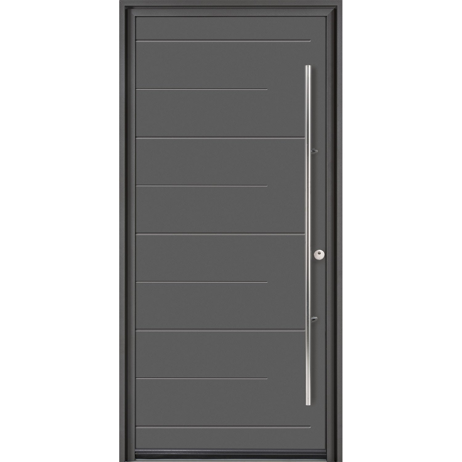 Porte d 39 entr e sur mesure en aluminium soprano excellence for Tringle porte d entree