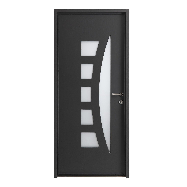 Porte d 39 entr e sur mesure en aluminium centauria for Prix porte d entree alu