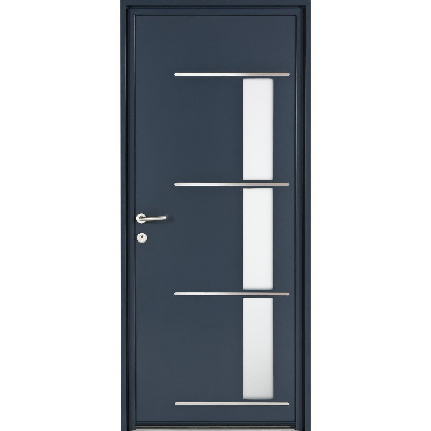 porte d 39 entr e sur mesure en aluminium matara excellence leroy merlin. Black Bedroom Furniture Sets. Home Design Ideas