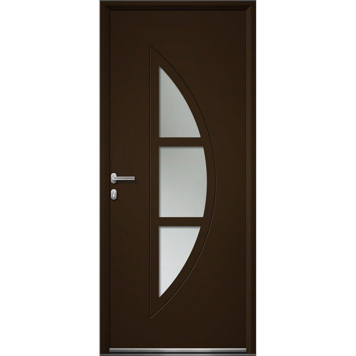 Porte d 39 entr e sur mesure en aluminium omaha artens for Carrelage porte d entree