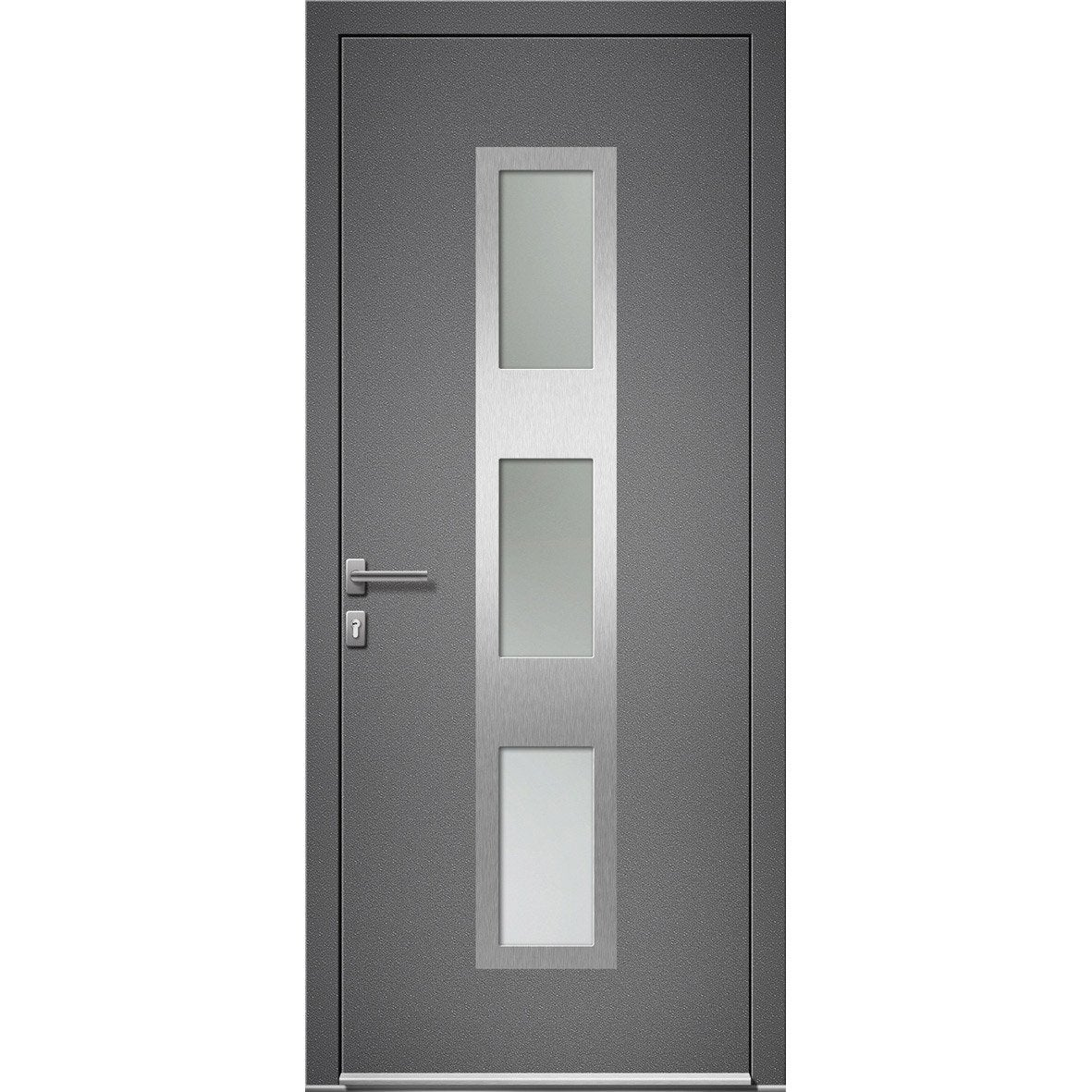 Porte d 39 entr e sur mesure en aluminium halifax excellence for Porte 3 points leroy merlin