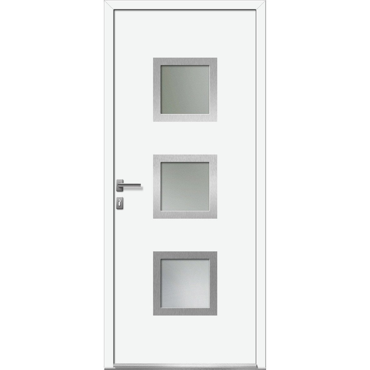 Porte d 39 entr e sur mesure en pvc arhus excellence leroy for Porte 3 points leroy merlin