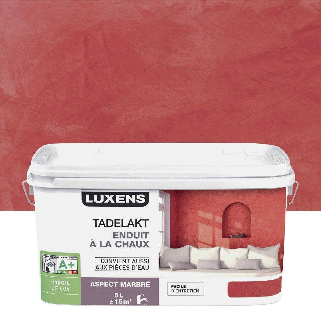 enduit d coratif tadelakt luxens rouge rouge 3 5 l leroy merlin. Black Bedroom Furniture Sets. Home Design Ideas