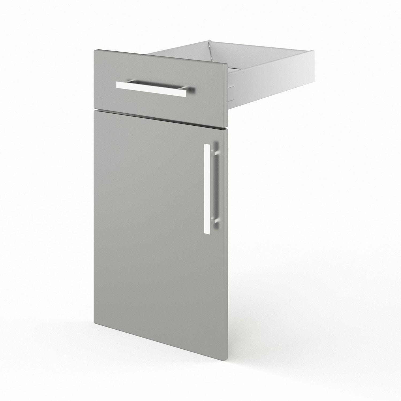 Porte et tiroir de cuisine gris d lice x x for Porte 70 cm leroy merlin