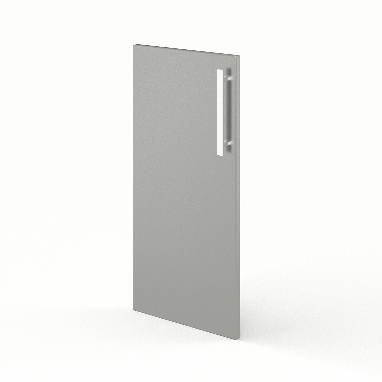Porte pour angle de cuisine gris d lice x cm for Porte 70 cm de large