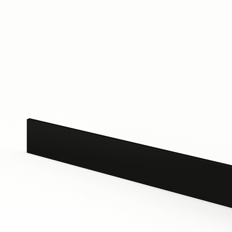 Plinthe de cuisine noir d lice l 270 x h 15 cm leroy merlin for Coller des plinthes en carrelage