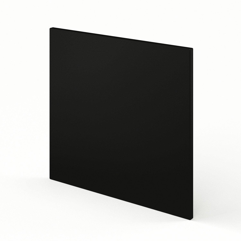 Porte pour lave vaisselle int grable de cuisine noir for Porte lave vaisselle ikea 60 cm