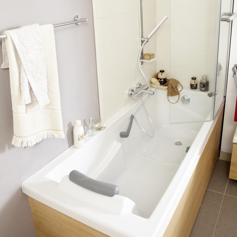 Baignoire rectangulaire cm blanc sensea for Colonne de baignoire leroy merlin