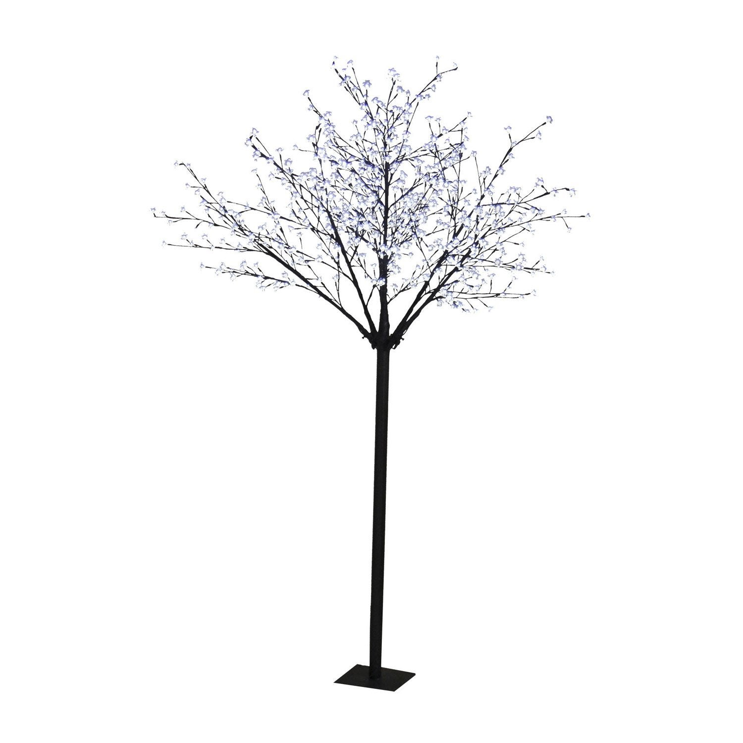 arbre lumineux ext rieur led int gr e brun leroy merlin