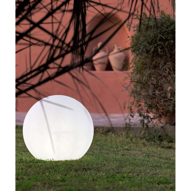 Boule d corative ext rieure buly 40 cm e27 25 w 880 lm blanc newgarden l - Lampes solaires castorama ...