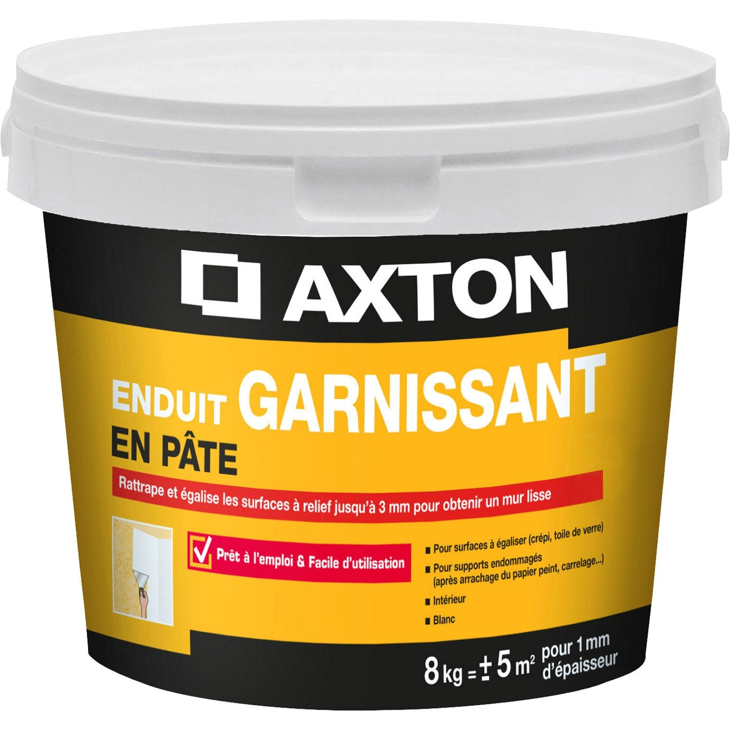 Enduit de r novation et garnissant p te blanc axton 8 kg leroy merlin - Enduit de renovation reliss ...