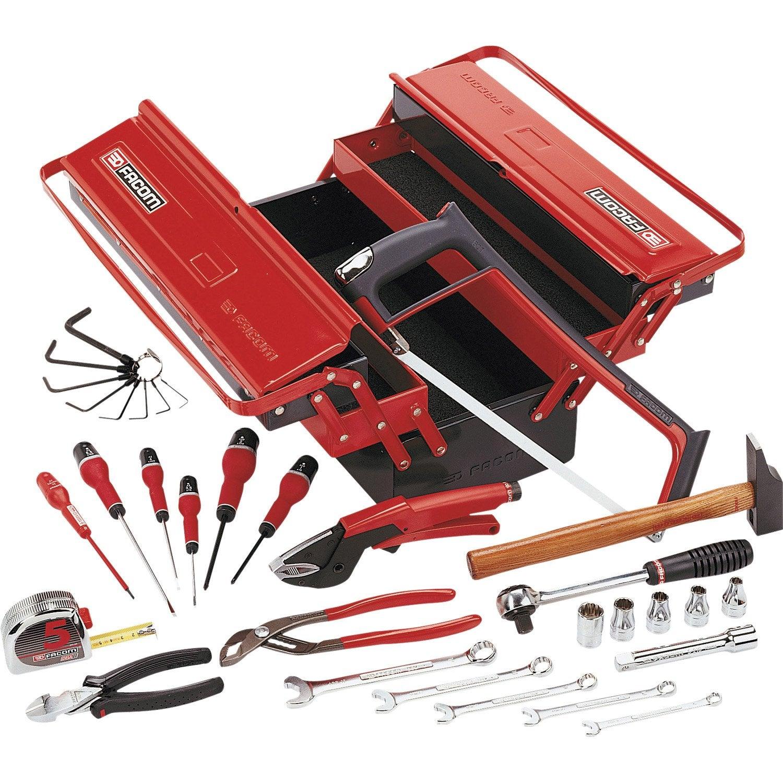 Malette outils 32 pi ces facom leroy merlin - Caisse a outils facom complete ...
