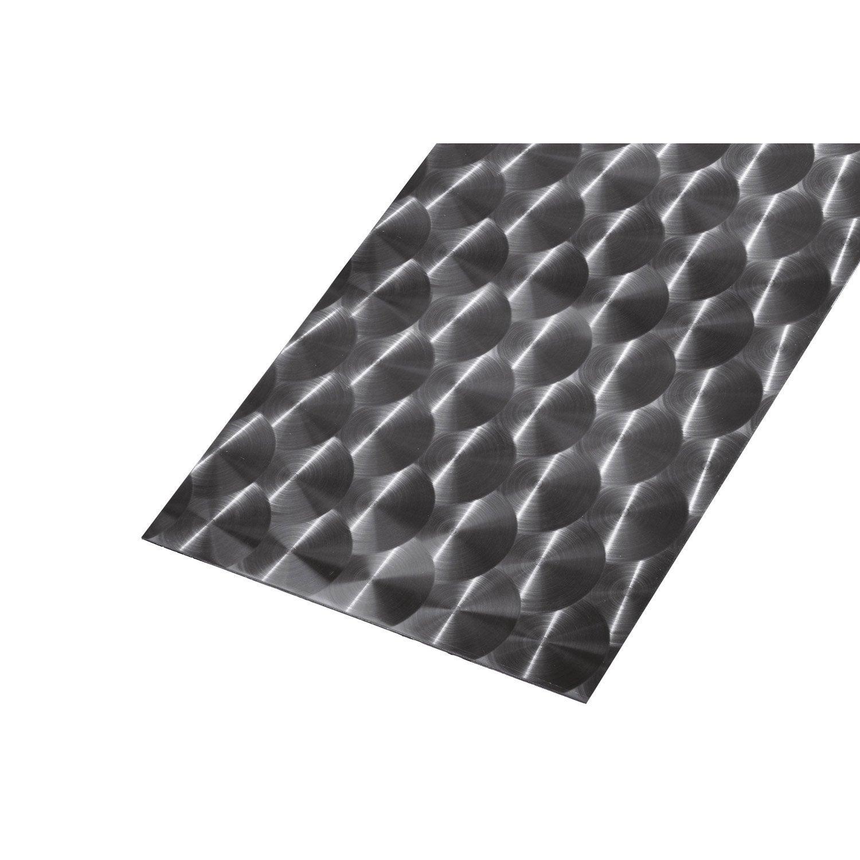T le lisse en acier inoxydable brillant long 100 cm x for Tole ondulee translucide leroy merlin