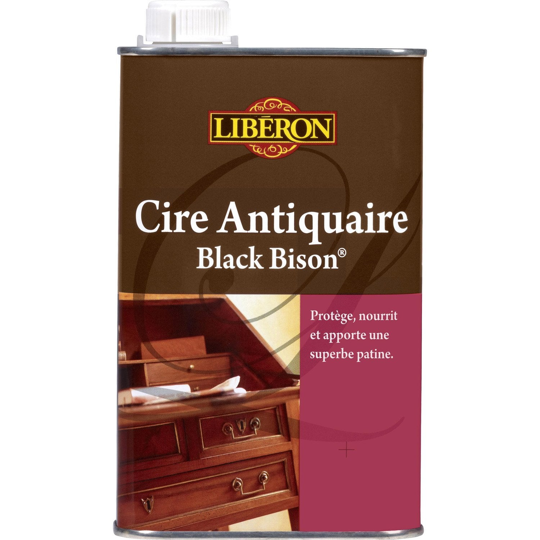 Cire liquide meuble et objets blackbison liberon 0 5 l for Cire antiquaire black bison liquide