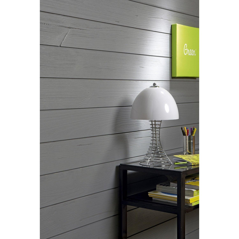 lambris bois sapin bross gris galet n 3 artens ep leroy merlin. Black Bedroom Furniture Sets. Home Design Ideas