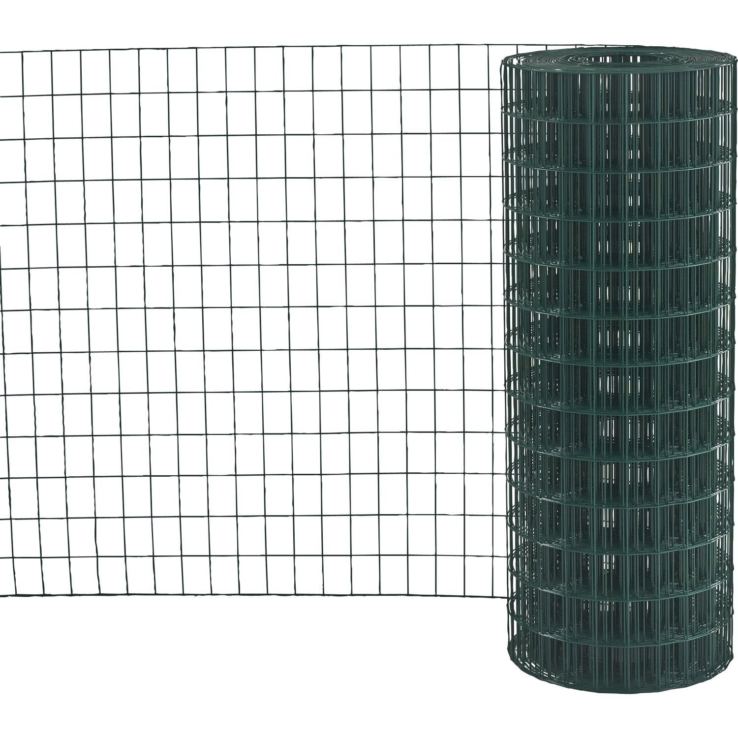 Grillage soud vert h 1 5 x m maille de x for Grillage jardin leroy merlin