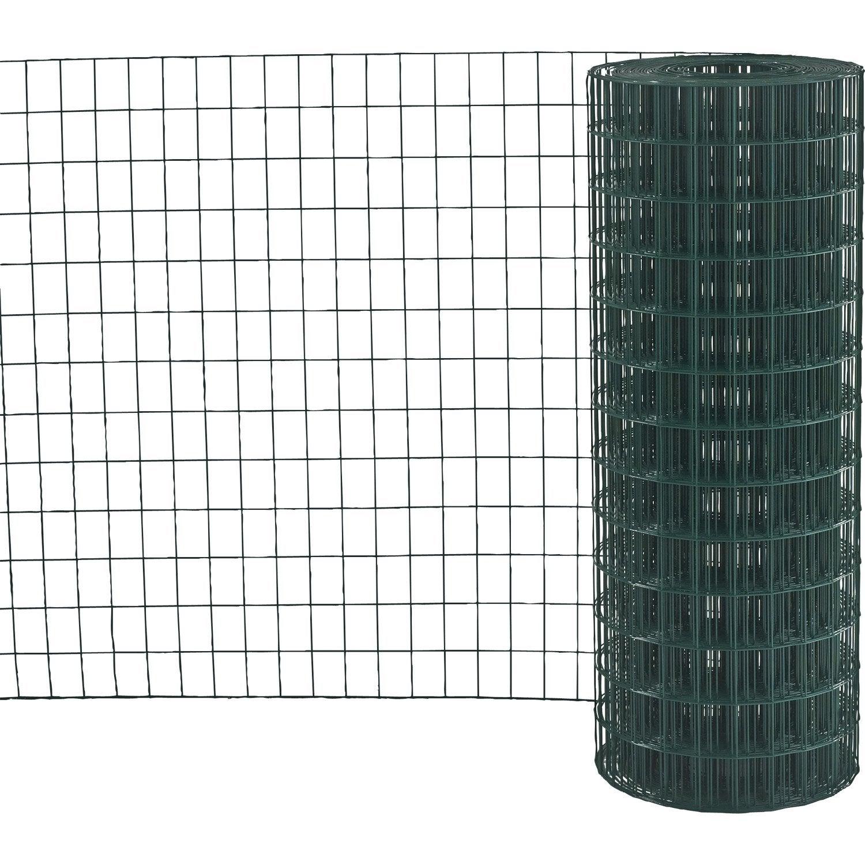 Grillage soud vert h 1 5 x m maille de x for Leroy merlin grillage jardin