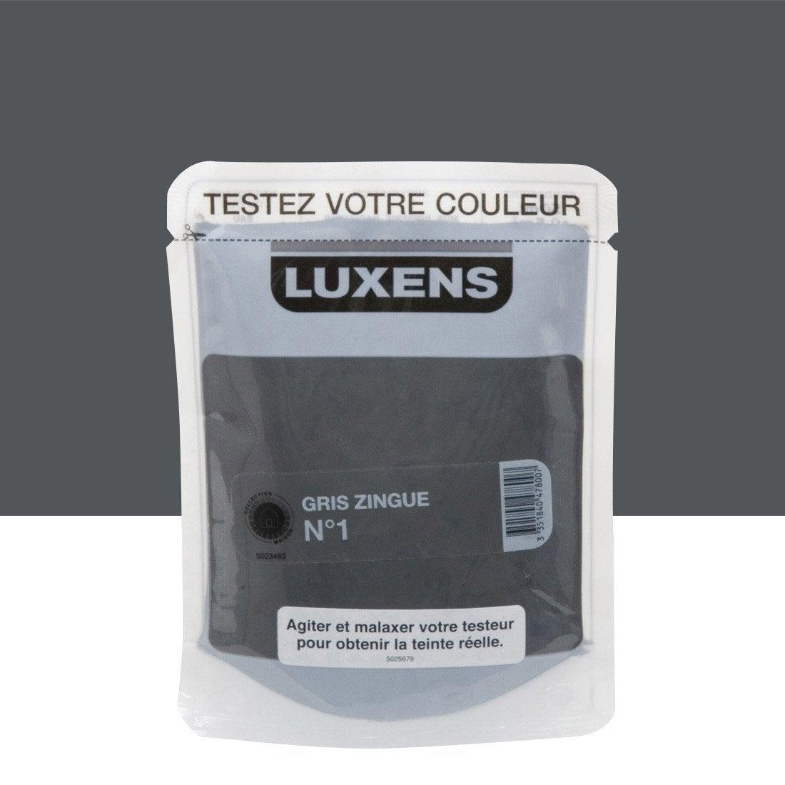 Testeur peinture gris zingu 1 luxens couleurs int rieures - Peinture grise leroy merlin ...
