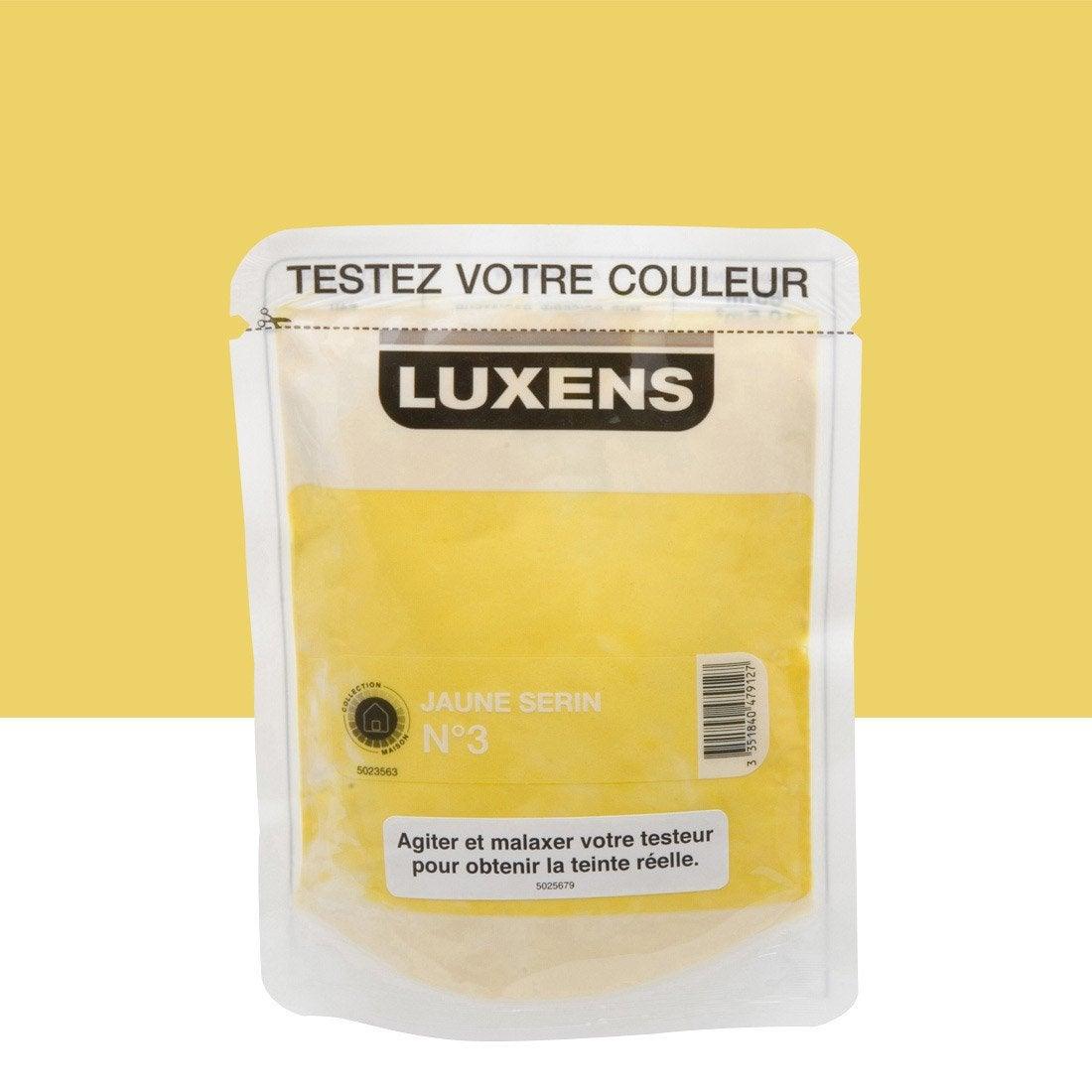 Testeur peinture jaune serin 3 LUXENS Couleurs intérieures