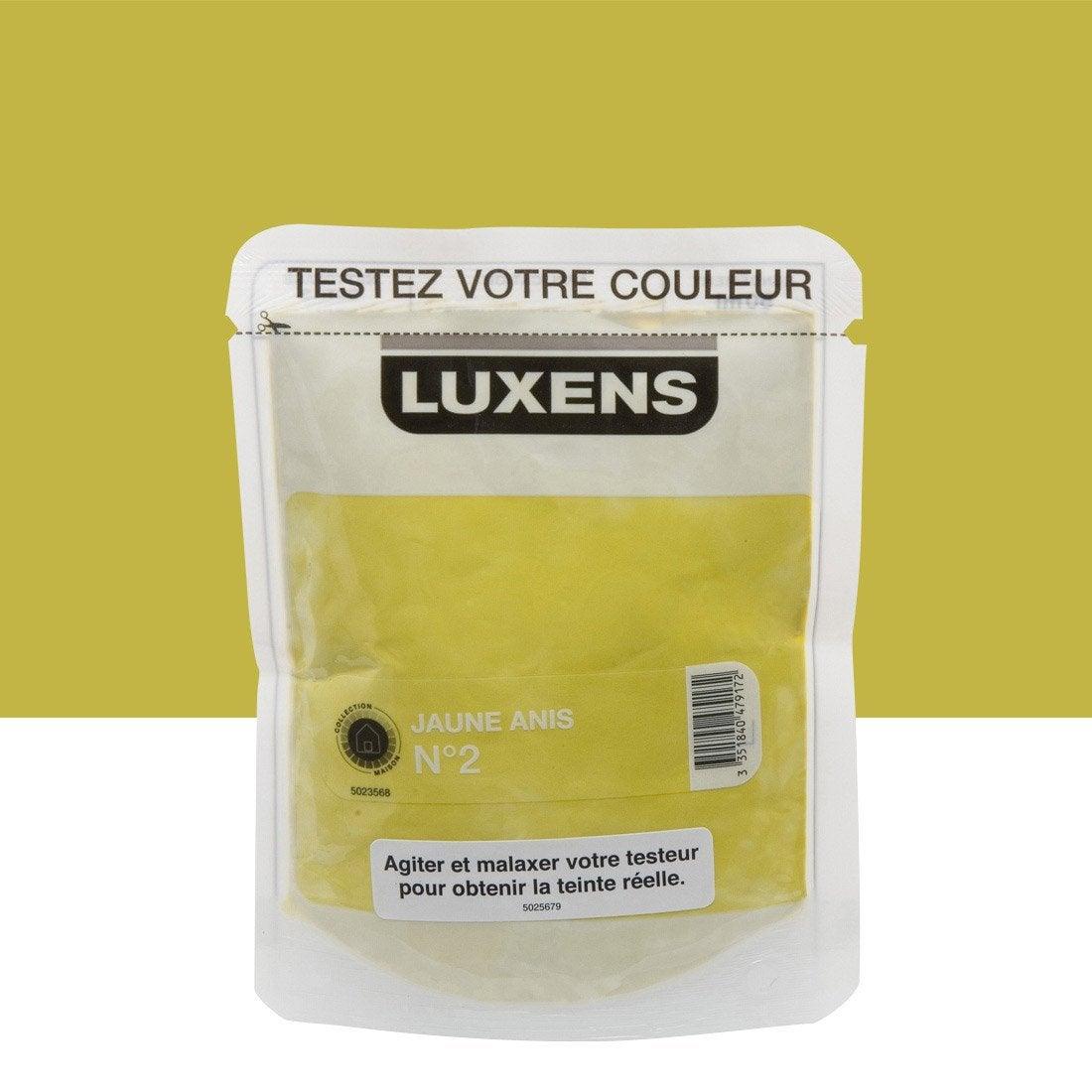 Testeur peinture jaune anis 2 luxens couleurs intérieures satin ...