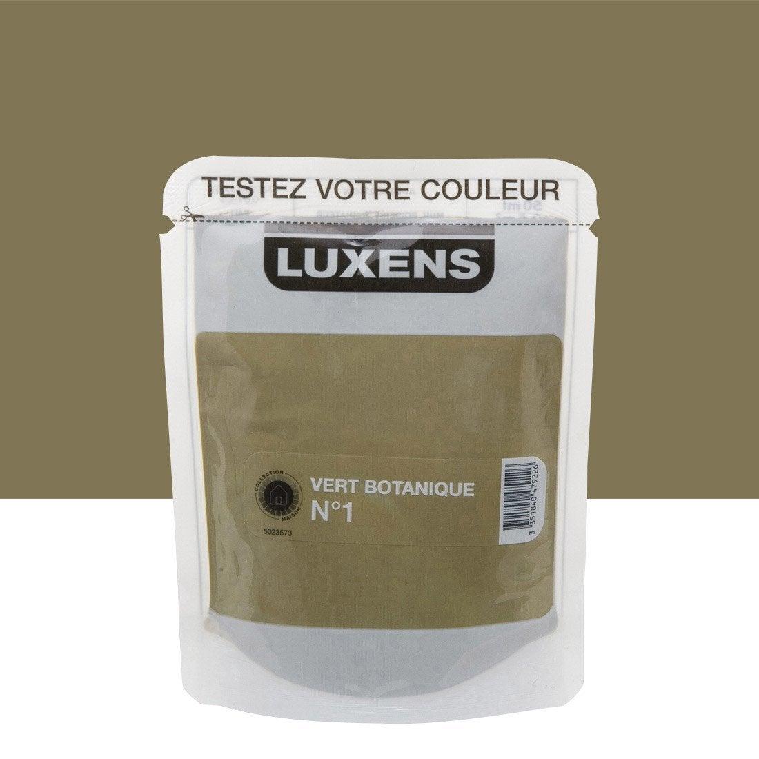 Testeur peinture vert botanique 1 luxens couleurs - Peinture leroy merlin luxens ...