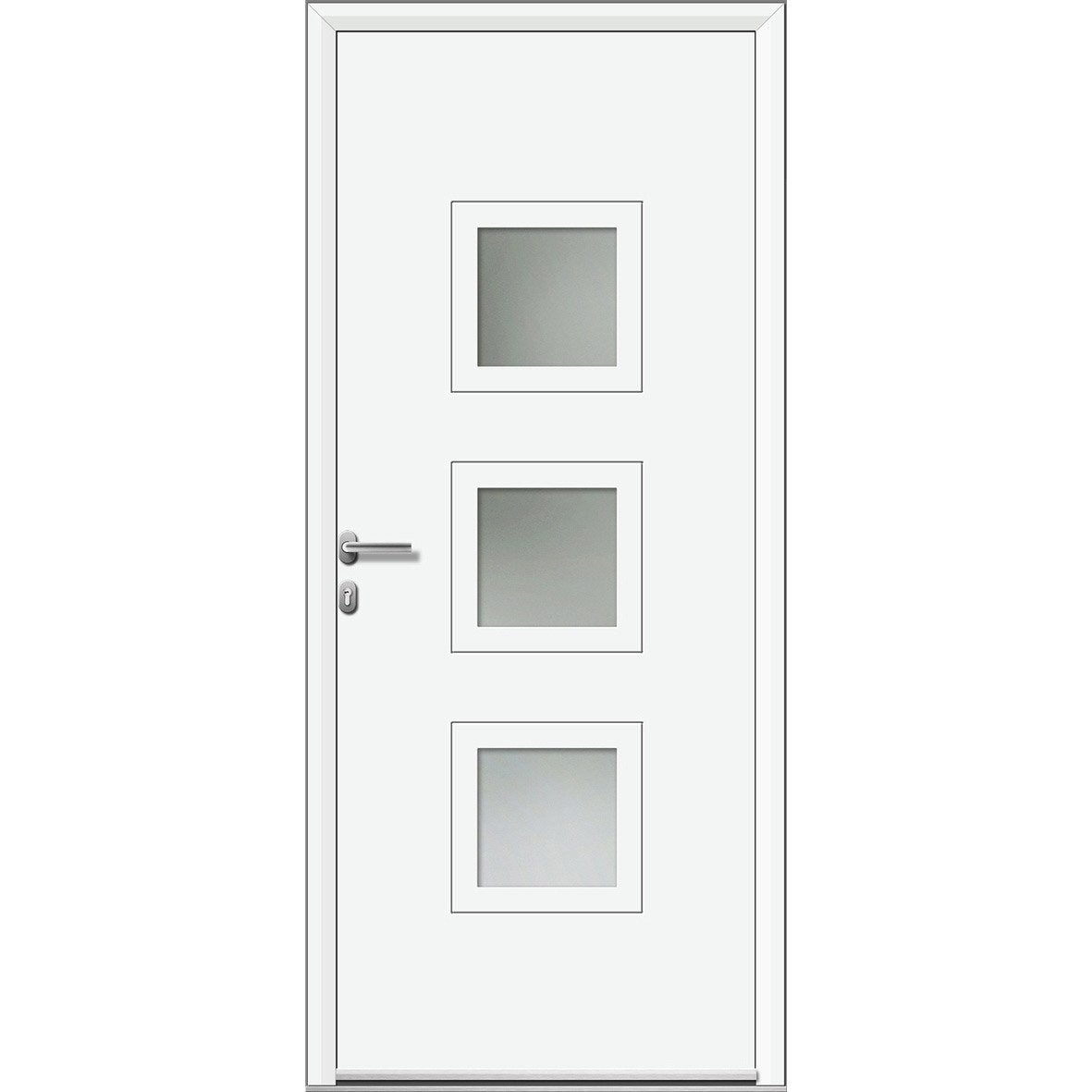 Porte d 39 entr e sur mesure en aluminium phenix artens for Porte 3 points leroy merlin