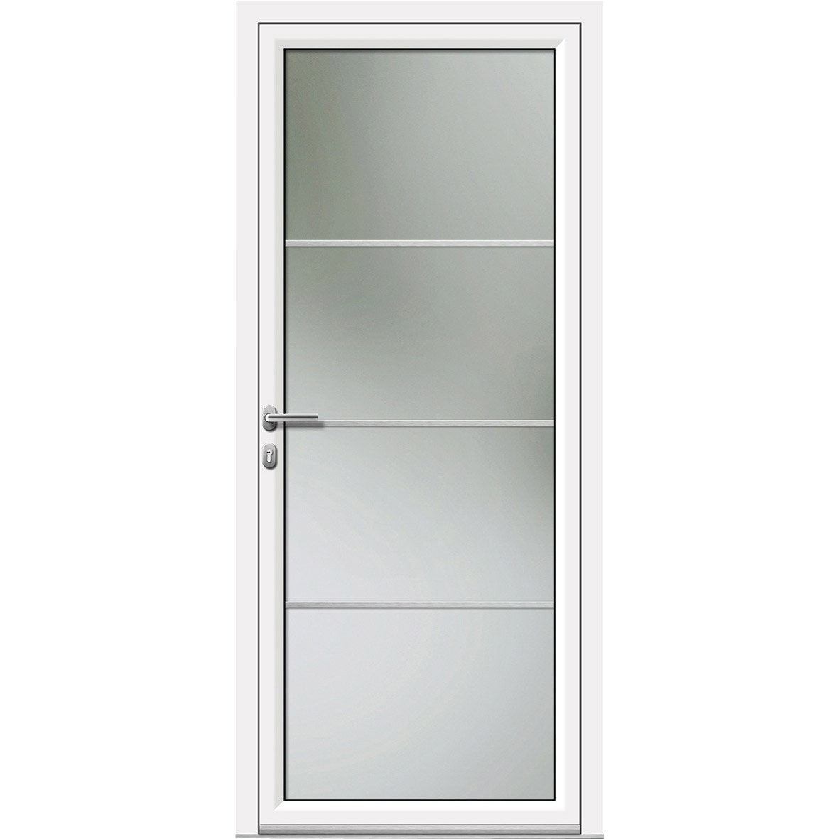 Porte d 39 entr e sur mesure en aluminium laly artens leroy - Leroy merlin porte vitree ...