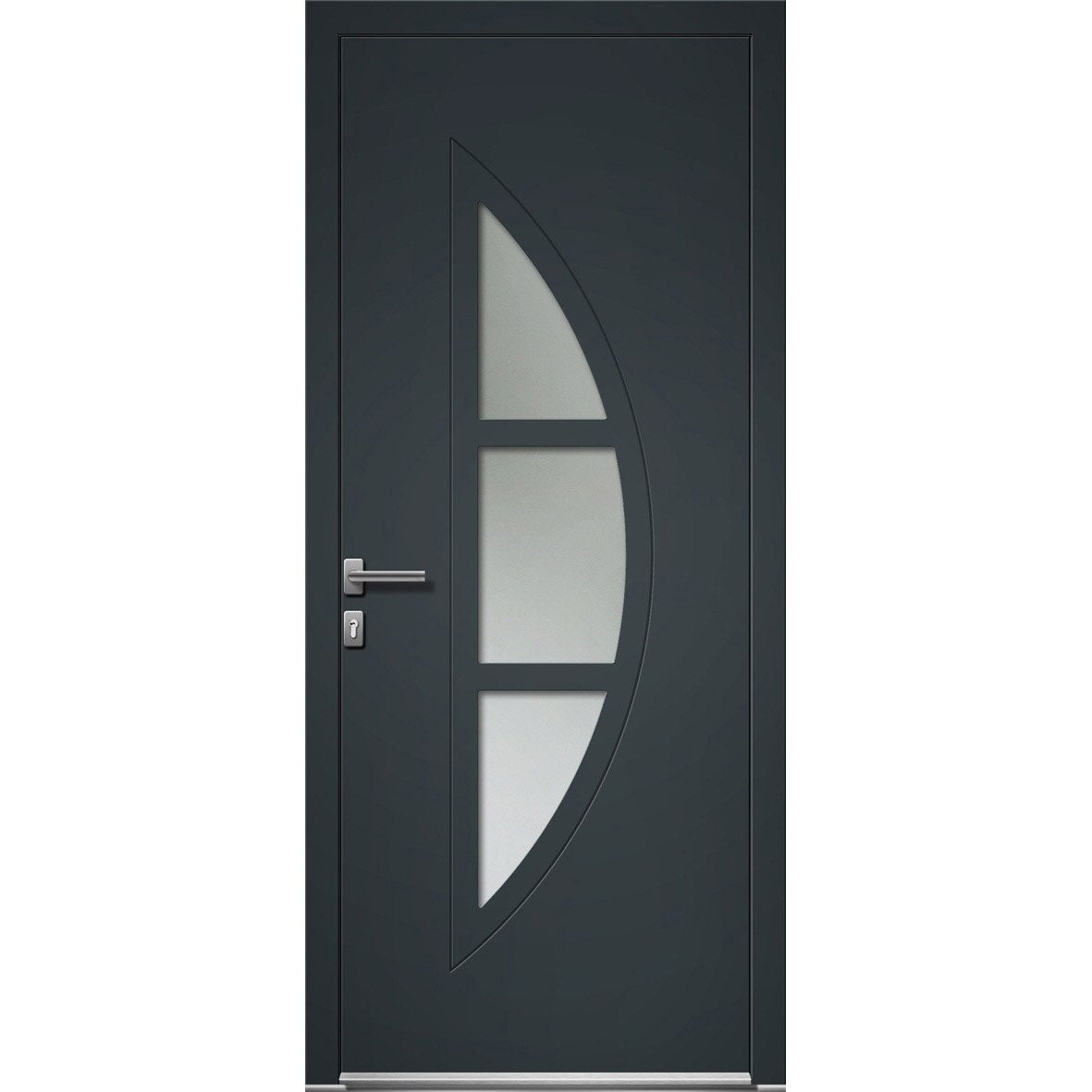 porte d 39 entr e sur mesure en aluminium omaha excellence leroy merlin. Black Bedroom Furniture Sets. Home Design Ideas