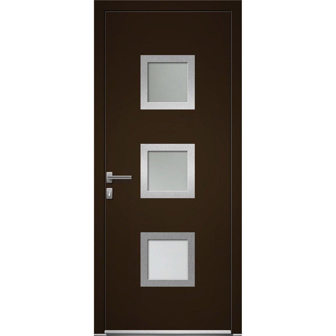 Porte d 39 entr e sur mesure en aluminium seatle excellence - Portes d entree leroy merlin ...