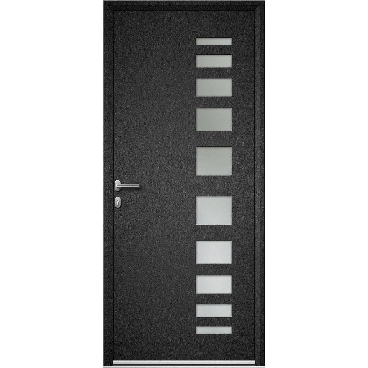 porte d 39 entr e sur mesure en aluminium portland artens leroy merlin. Black Bedroom Furniture Sets. Home Design Ideas