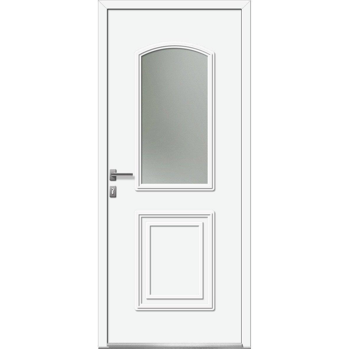 Porte d 39 entr e sur mesure en pvc riga excellence leroy for Porte entree sur mesure