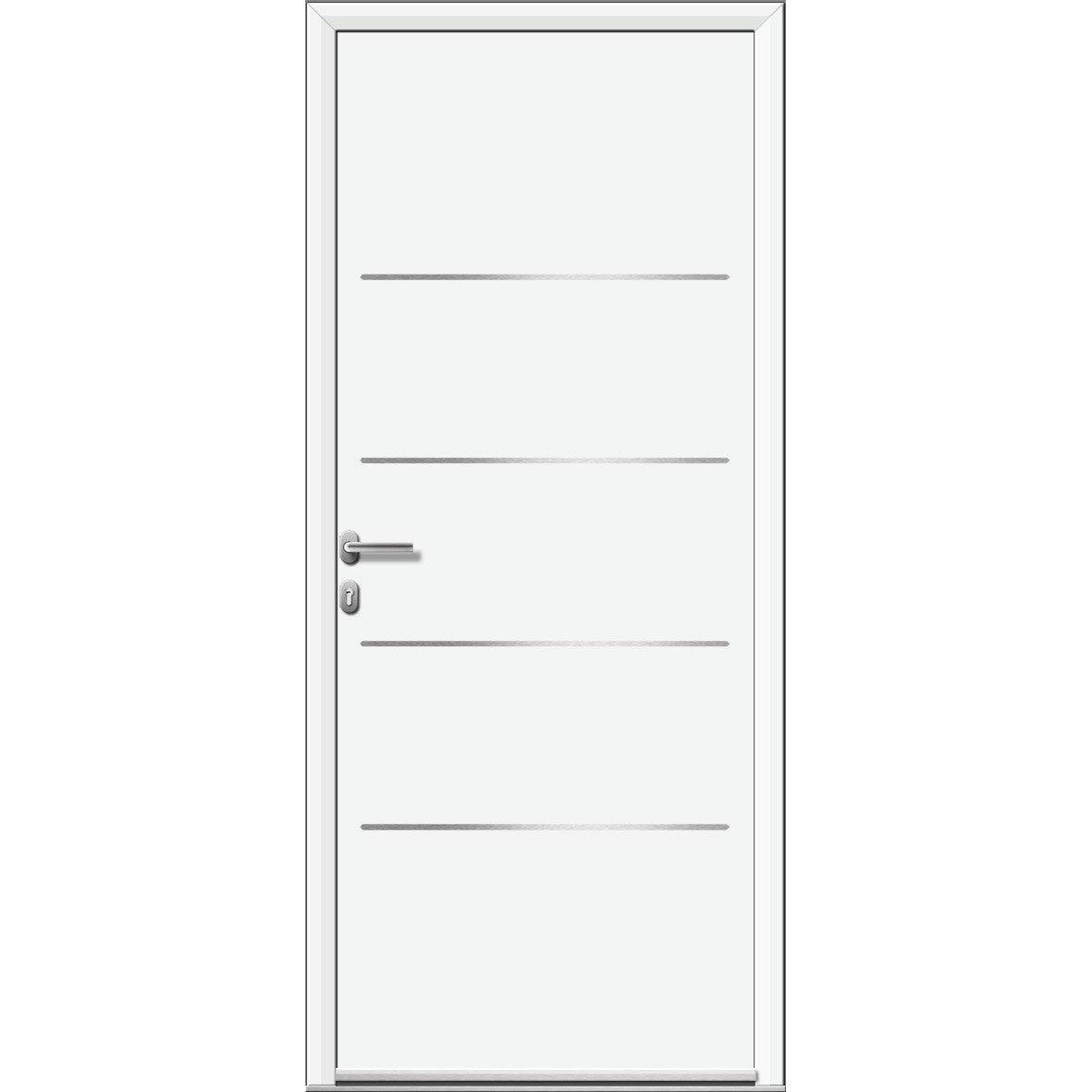 Porte d 39 entr e sur mesure en aluminium lincoln artens - Portes d entree leroy merlin ...