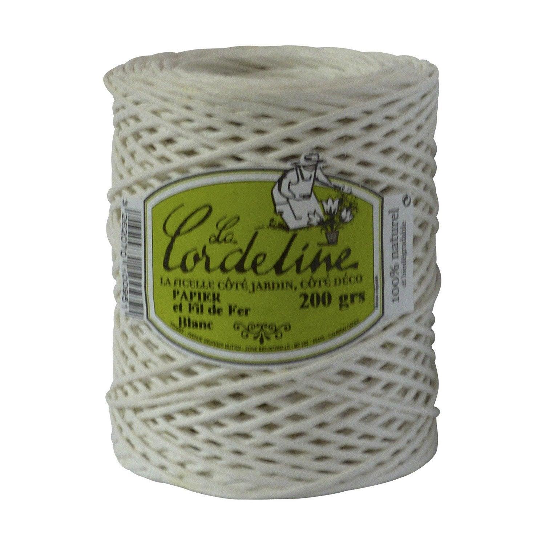Papier et fil de fer blanc 200m la cordeline leroy merlin - Fil de fer leroy merlin ...