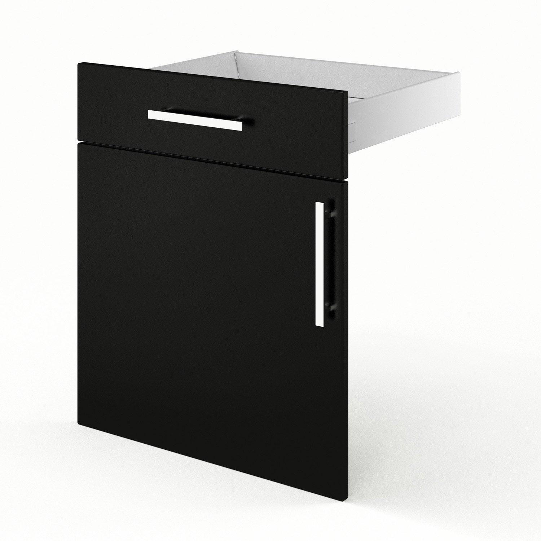 porte et tiroir de cuisine noir d lice x x cm leroy merlin. Black Bedroom Furniture Sets. Home Design Ideas