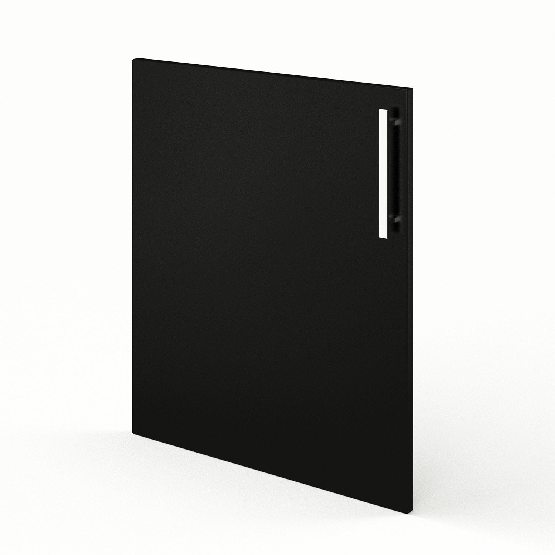 Porte de cuisine noir d lice x cm leroy merlin for Porte 60 cm cuisine