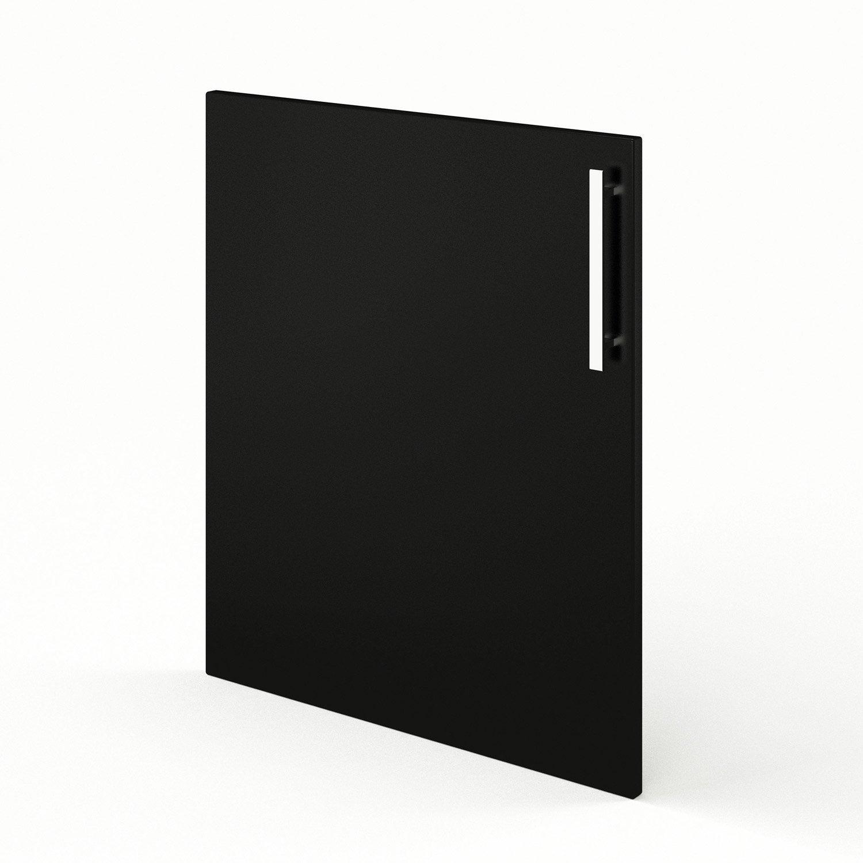 Porte de cuisine noir f60 d lice l60 x h70 cm leroy merlin - Facade de cuisine seule ...
