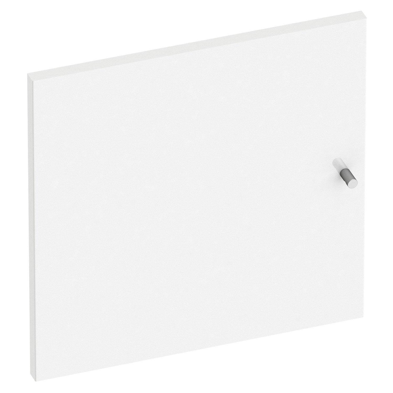Porte battante spaceo home 40 x 40 x 1 6 cm blanc brillant leroy merlin - Porte battante leroy merlin ...