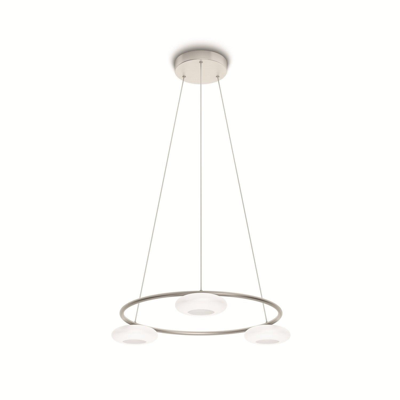 suspension led int gr e moderne tarbert m tal blanc 3 x 4 5 w philips leroy merlin. Black Bedroom Furniture Sets. Home Design Ideas