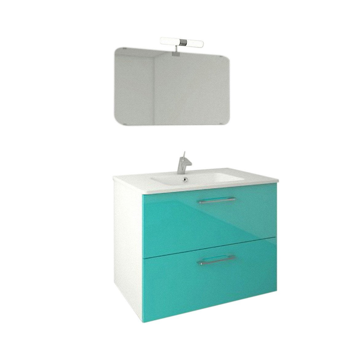 Meuble sous vasque x x cm bleu happy - Meuble sous comble leroy merlin ...