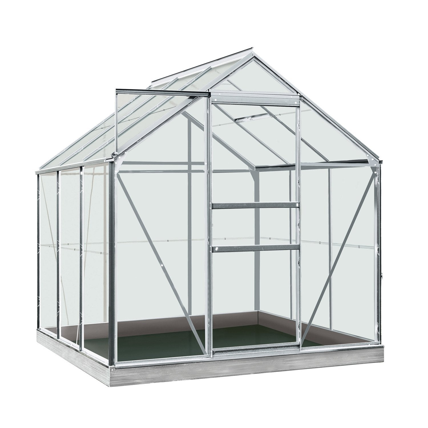 Serre de jardin en polycarbonate simple paroi rainbow 3 for Serre per orto leroy merlin
