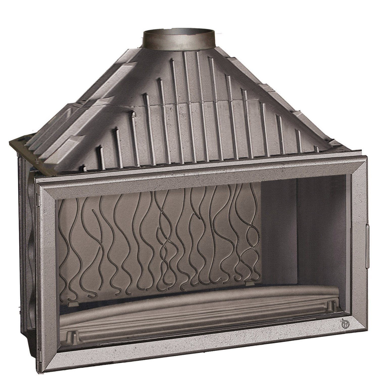 foyer bois fa ade droite invicta 6211 44 18 kw leroy merlin. Black Bedroom Furniture Sets. Home Design Ideas
