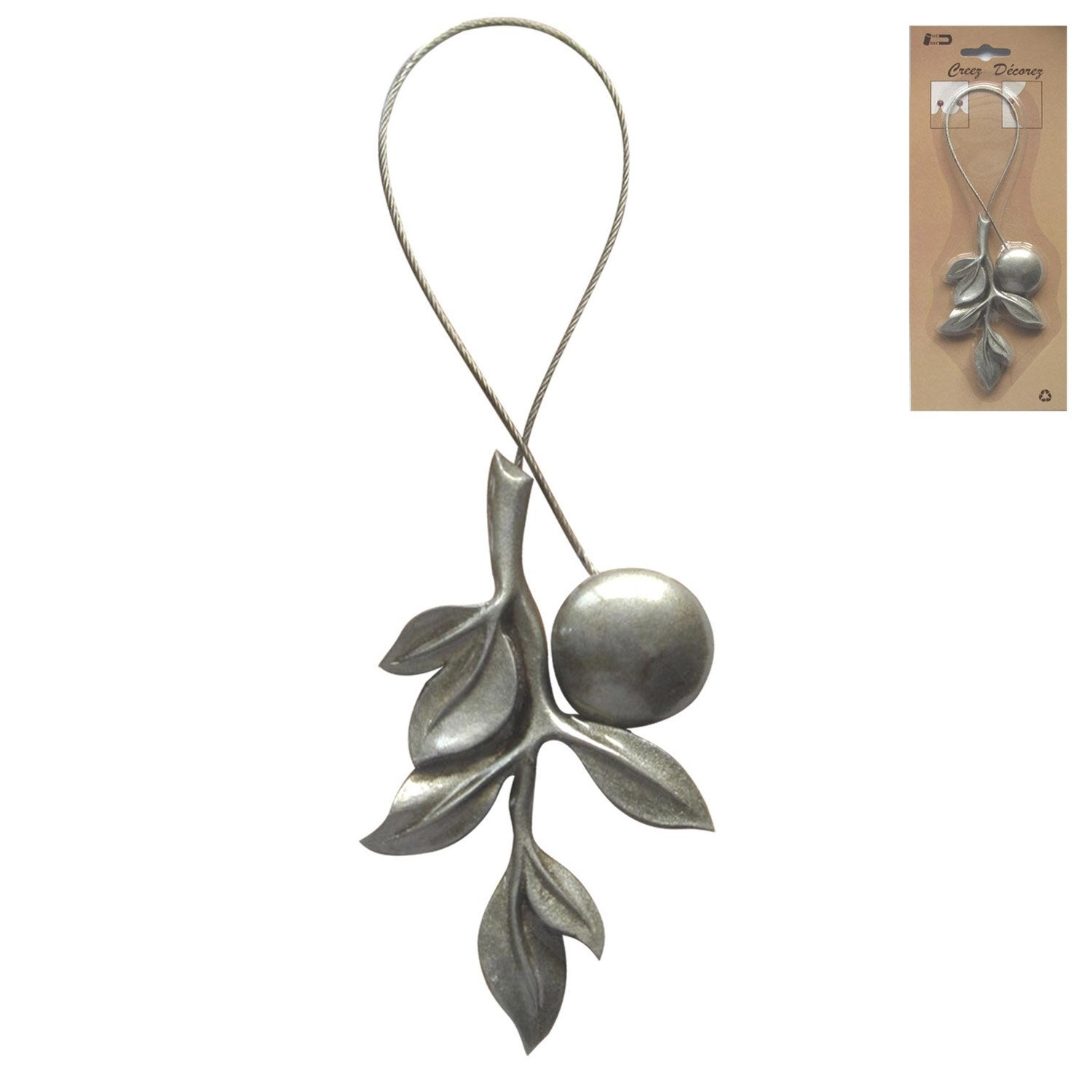 Embrasse aimant e branche argent leroy merlin - Embrasse rideau leroy merlin ...