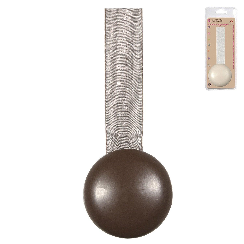 accessoire d coratif pour rideaux magn tique chocolat leroy merlin. Black Bedroom Furniture Sets. Home Design Ideas